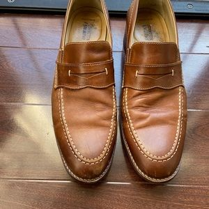 Johnston Murphy, Mens tan penny loafers, size 10.5